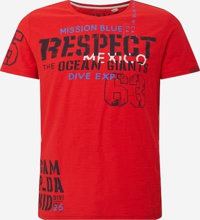 CAMP DAVID Tričko - modrá / červená / černá / bílá, Produkt