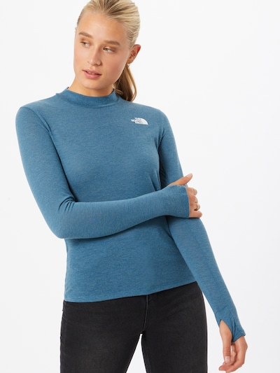 THE NORTH FACE Funktionsshirt 'Active Trail Novelty' in himmelblau / weiß: Frontalansicht