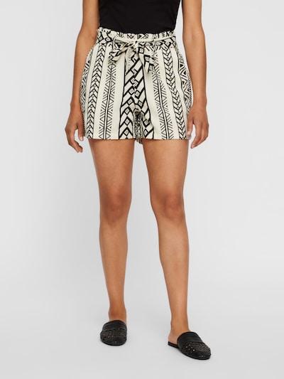Pantaloni con pieghe 'Dicthe' VERO MODA di colore nero / offwhite, Visualizzazione modelli