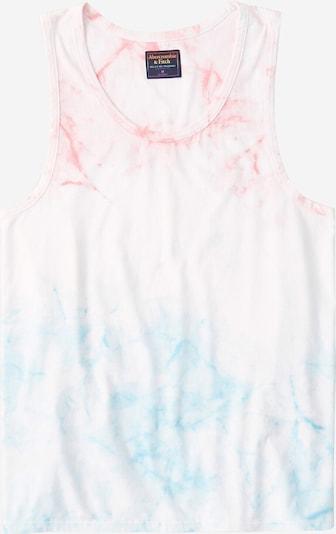 Abercrombie & Fitch Top in hellblau / pink / weiß, Produktansicht