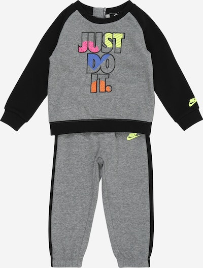Nike Sportswear Jogging komplet u siva melange / miks boja / crna, Pregled proizvoda