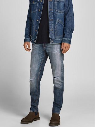 JACK & JONES Jeans 'Mike' in Blau