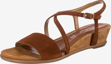 UNISA Sandalette 'Bakiosin' in Braun