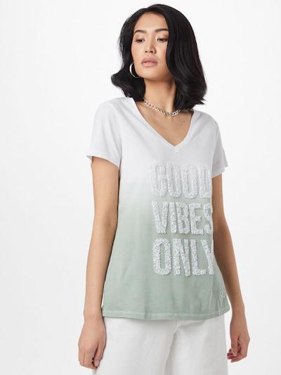 Key Largo T-shirt 'SHADE' en vert pastel / blanc: Vue de face