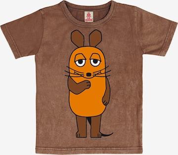 LOGOSHIRT Shirt 'Die Sendung mit der Maus' in Brown