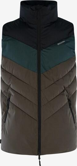 mazine Bodywarmer 'Bath' in de kleur Groen / Kaki / Zwart, Productweergave