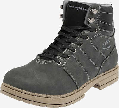 Champion Authentic Athletic Apparel Bottines à lacets 'NEW UPSTATE' en noir chiné, Vue avec produit