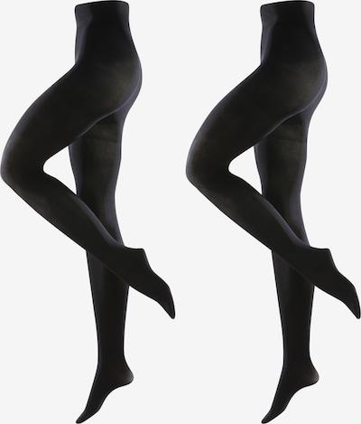 DIE STRUMPFMACHER Strumpfhosen 60den/67dtex, blickdicht mit 2-Zonen-Bund Doppelpack in schwarz, Produktansicht
