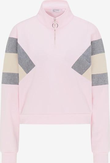 myMo ATHLSR Sportsweatshirt in beige / graumeliert / pink, Produktansicht