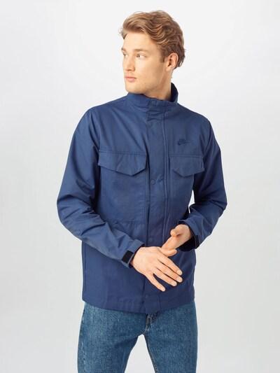 Nike Sportswear Tussenjas in de kleur Donkerblauw: Vooraanzicht