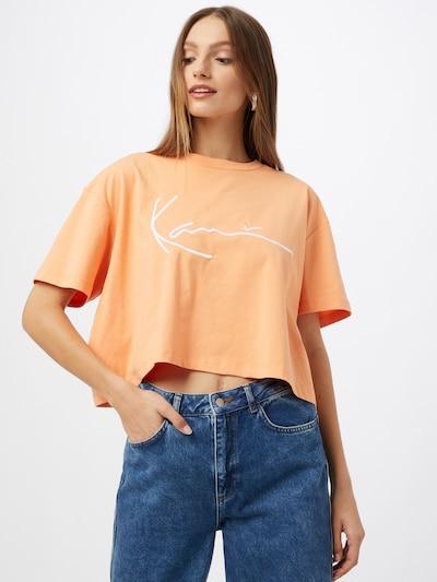 Karl Kani Oversized paita värissä vaaleanoranssi / valkoinen: Näkymä edestä