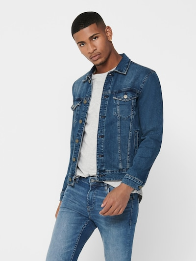 Only & Sons Jeansjacke 'Coin' in blue denim: Frontalansicht