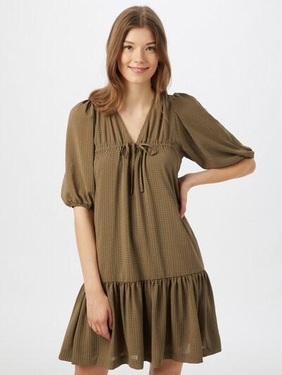 SECOND FEMALE Kleid 'Tara' in grün / oliv, Modelansicht