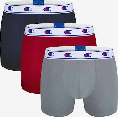 Champion Authentic Athletic Apparel Boxers en bleu marine / gris / rouge, Vue avec produit