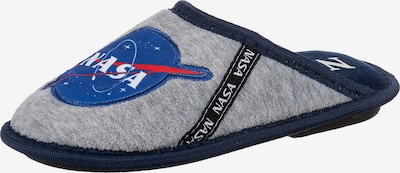 NASA Hausschuhe in blau / grau: Frontalansicht
