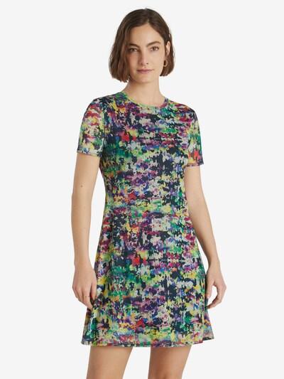 Rochie de vară 'ANN' Desigual pe bleumarin / verde iarbă / verde pastel / mov zmeură / mov închis, Vizualizare model