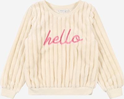 NAME IT Sweatshirt in creme / pink, Produktansicht