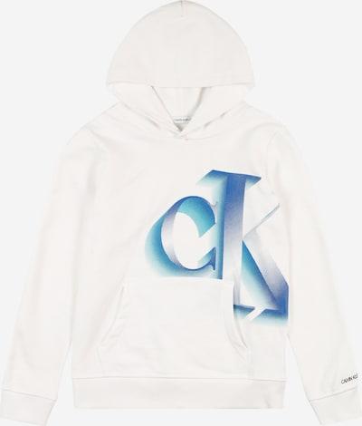 Calvin Klein Jeans Sweatshirt 'PIXELATED MONOGRAM LOGO' in blau / weiß, Produktansicht