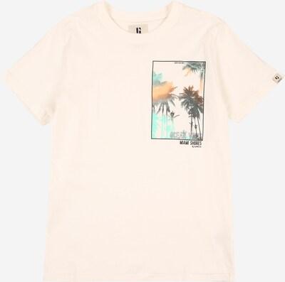 GARCIA T-Shirt en jade / orange / noir / blanc cassé, Vue avec produit