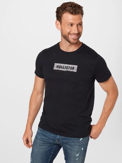 HOLLISTER Тениска в черно / бяло: Изглед отпред