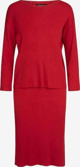 APART Strick-Set als Pullover und Rock in rot, Produktansicht