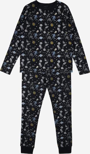 NAME IT Pyjama en opal / bleu foncé / moutarde / kaki / blanc, Vue avec produit