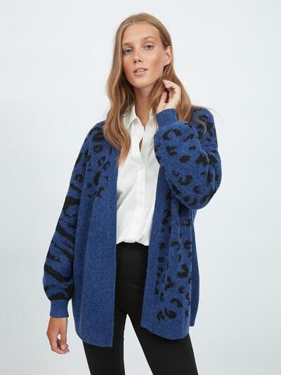 VILA Strickjacke in blau / schwarz, Modelansicht