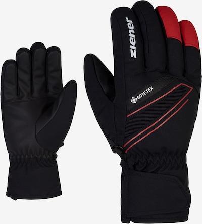 ZIENER Skihandschuhe 'GUNAR GTX' in rot / schwarz, Produktansicht