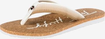 TOMMY HILFIGER T-Bar Sandals in Beige