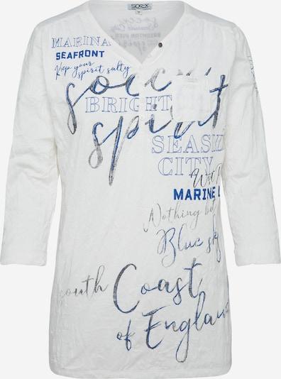 Soccx Shirt in blau / weiß, Produktansicht