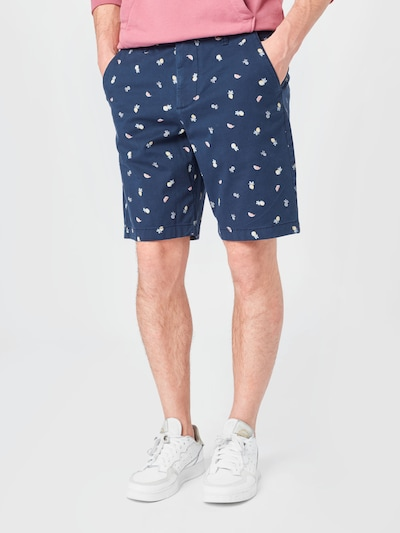kék / tengerészkék / sárga / fűzöld / gránátalma HOLLISTER Chino nadrág, Modell nézet