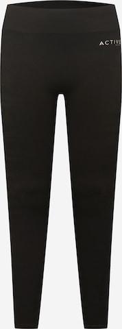 Active by Zizzi Workout Pants 'AKAMALA' in Black