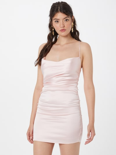 Rochie de cocktail Love Triangle pe roz deschis, Vizualizare model