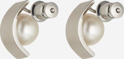 SKAGEN Ohrstecker 'Agnethe' in silber / perlweiß, Produktansicht