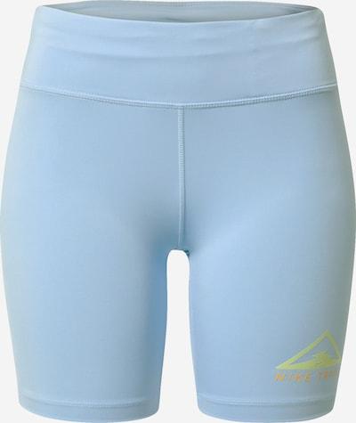 NIKE Pantalon de sport 'Nike Fast' en bleu clair, Vue avec produit
