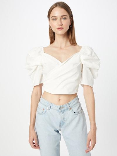 Gina Tricot Blusa 'Jeanette' en blanco, Vista del modelo