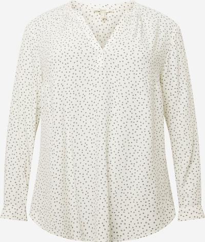 Esprit Curves Блуза в черно / мръсно бяло, Преглед на продукта