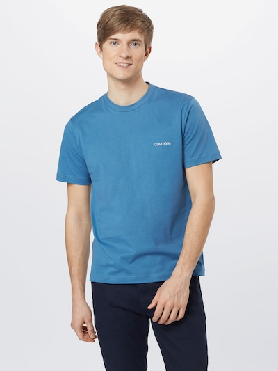 Calvin Klein Tričko - nebesky modrá / biela: Pohľad spredu
