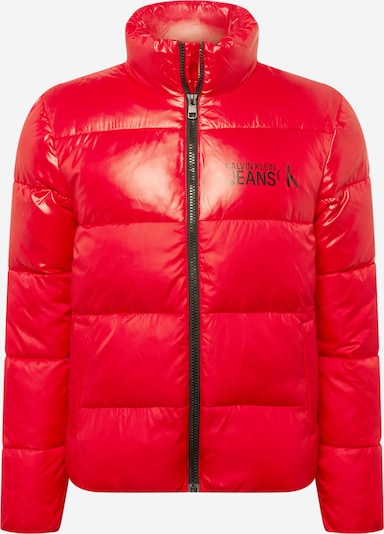 Calvin Klein Jeans Starpsezonu jaka, krāsa - sarkans / melns, Preces skats