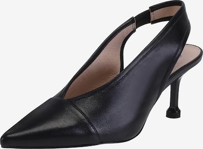 Ekonika Slingpumps aus weichem Leder in schwarz, Produktansicht