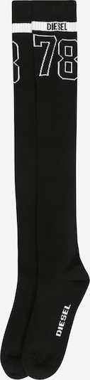 DIESEL Overknee Strümpfe in schwarz / weiß, Produktansicht