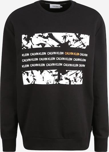 Calvin Klein Sweatshirt in gelb / schwarz / weiß, Produktansicht
