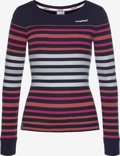 KangaROOS Shirt in rot / schwarz / weiß, Produktansicht