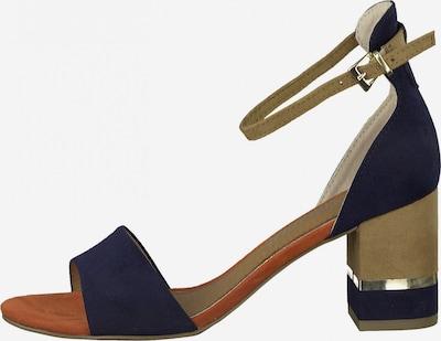 MARCO TOZZI Sandalette in hellbeige / blau, Produktansicht