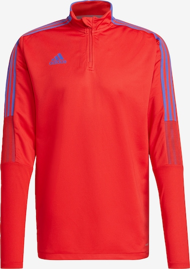 ADIDAS PERFORMANCE Sportshirt 'Tiro' in himmelblau / rot, Produktansicht