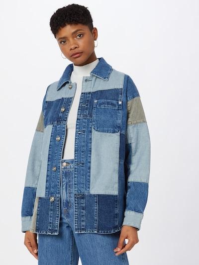 Bluză BDG Urban Outfitters pe bej / albastru / azur, Vizualizare model