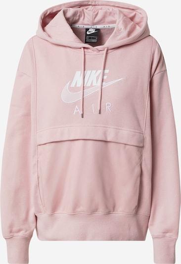 Nike Sportswear Блузон с качулка в розово / бяло: Изглед отпред