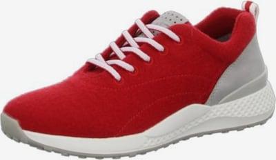 MARCO TOZZI Schnürschuh in hellgrau / rot / weiß, Produktansicht