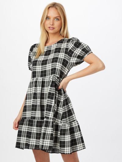Hailys Kleid in schwarz / weiß, Modelansicht