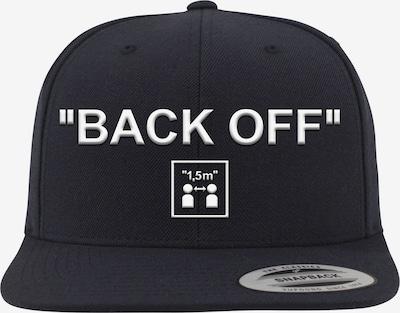 Mister Tee Cap 'Back Off' in schwarz / weiß, Produktansicht